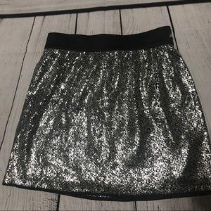GAP Silver Sparkly Sequin Skirt